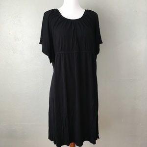 Lane Bryant Elastic Waist Flowy Black Dress